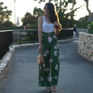 Pants - Floral palazzo pants